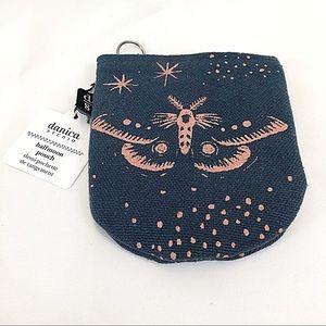 Danica Studio half moon pouch with moth graphic